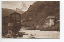 SUISSE SWITZERLAND Canton du VALAIS chalet et vieux pont sur la VIEGE