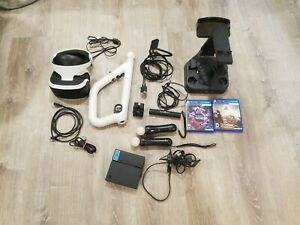 Sony PlayStation VR Headset PS4/5 PSVR CUH-ZVR1 Move & Aim Controls Games Bundle