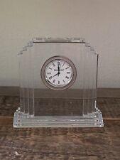 """Waterford lead crystal """"Metropolitan"""" mantle clock"""