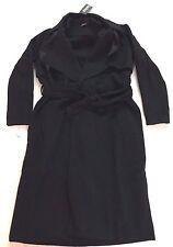 boohoo Women's Imogen Belted Wool Look Coat Black CB4 One Size NWT
