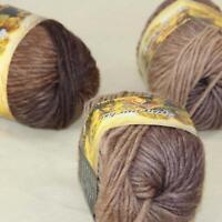 Sale 3 Skeins x 50g Rainbows Coarse Hand Knit Wool Yarn Vintage Shawl Scarves 06