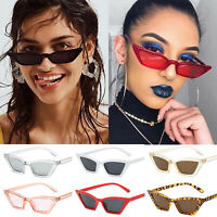 Women Vintage Cat Eye Small Sunglasses Ladies Retro Luxury UV400 Eyewear Glasses