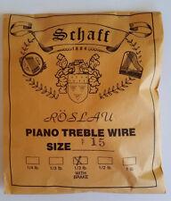 Schaff Roslau Piano Music Treble Wire Size 15 .035 1/3 Lb Coil 102' w Brake