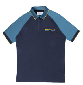 New Mens Mish Mash Cannes Navy Polo Shirt Size S £19.99 orbest offer RRP £45