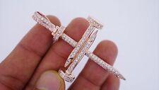 Mens Huge Nail Pendant 2 Carat Diamonds 25 Grams Rose Gold Celebrity Style ASAAR