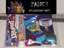 12 x FNAF World Design Personalised Birthday Party Loot Lolly Bags