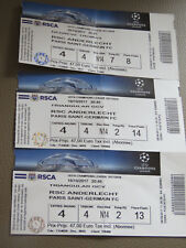 3 Tickets: Anderlecht - PSG Paris Saint-Germain UEFA Champions League (18-10-17)