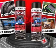 2x Herculiner Beschichtung Spraydose Spray 440 ml schwarz + Sprühgriff