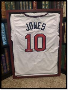 Atlanta Braves Jersey ✎SIGNED⚾ by CHIPPER JONES PSA DNA COA HOF 3B MLB Legend