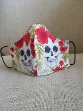 Face covering skull pattern . Please read description for size guide.