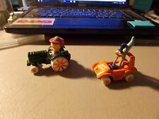 ERTL LOONEY TUNES DIECAST LOT OF  PORKY PIG ON TRACTOR & ROAD RUNNER IN CAR 3""