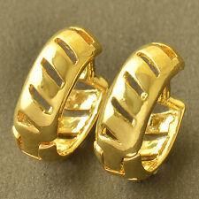 Skillful 9K Yellow Gold Filled Earrings Womens Hoop earing Free Shipping