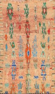 Thick-Plush Modern Moroccan Berber Geometric Oriental Area Rug Wool Handmade 6x9