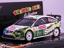 MINICHAMPS VALENTINO ROSSI 1/43 FORD FOCUS WRC STOBART WALES RALLY 2008 1008 PZ