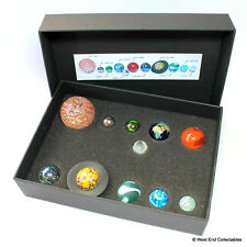 Solar System Orrery Globe Marble Collection in Presentation Box - 11 Planets Set