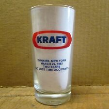1982 KRAFT FOODS PLANT SAFETY AWARD GLASS, Dunkirk NY Factory,  Excellent