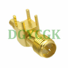 RF connector right angle RP.SMA female plug 90° PCB solder 1.37 1.13mm cable