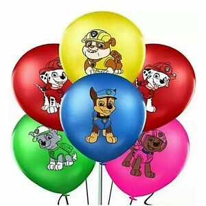 "10 X 12"" PAW PATROL Multi Colour Latex Printed Balloons Birthday Party"
