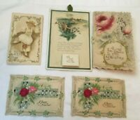 *Group 5 Early NEW YEAR Greeting Cards die cut, calendar card, and others