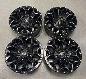 """Fuel Assault 17"""" Alloy Wheels (D546) Set Of 4 Matt Black 5x114.3/5x127 NEW UK"""