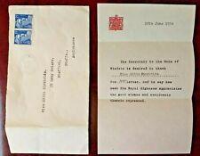 1954 Former King Edward VIII (Duke of WIndsor) letter from exile in France