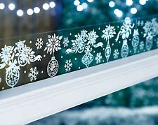 2m Baubles Snowflakes Window Border Cling Sticker Vintage Christmas Decorations