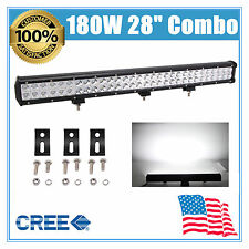 "28"" inch 180W CREE LED Light Bar Flood Spot Work Lamp Offroad UTV 4WD 240W 26/30"