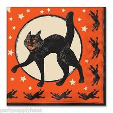 * RETRO Halloween CLASSIC BLACK CAT NAPKINS * Vintage BEISTLE *