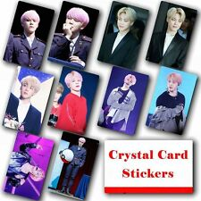 10pcs/set Kpop Bangtan Boys JIMIN HD Lustre Photo Card Crystal Card Sticker
