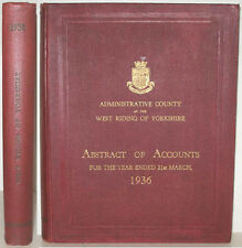 1936 THE WEST RISING OF YORKSHIRE ABSTRACT OF ACCOUNTS