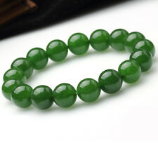 Hot sell ! beautiful 8mm nature round green jade bead stretch bracelet