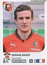 N°345 ROMAIN DANZE # STADE RENNAIS VIGNETTE STICKER  PANINI FOOT 2013