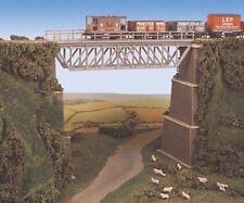Ratio 240 Steel Truss Bridge with Stone Piers 144mm Span N Gauge Plastic Kit T48