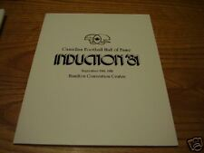 RARE 1981 CFL Hall of Fame Induction Program F Clair