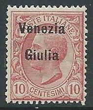1918-19 VENEZIA GIULIA EFFIGIE 10 CENT MNH ** - P13-2