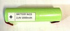 Batteria ricaricabile nicd 2,4v 2000 mAh per Gratì / lampada di emergenza