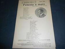 1920 NAPOLI CANZONE FENESTA A MARE VERSI E MUSICA DI ARMANDO GILL