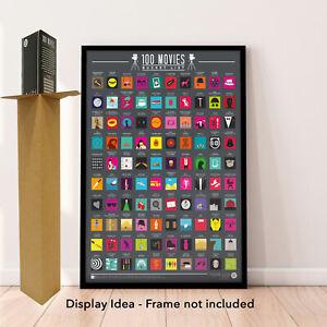 100 Movies Bucket List - Scratch off Poster