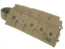"""WWII US Army  M1923 Cartridge Ammo Belt for M1 Garand Waist to 48"""" 1943 - Repro"""