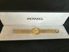 Movado Mens Watch Vintage 1980's Mint Condition With Case