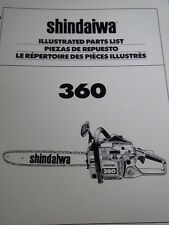 OEM Shindaiwa Chainsaw 360 Illustrated Parts List