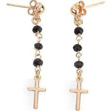 Orecchini a rosario Amen in argento rosato e onice ref. ORORN1