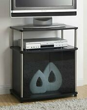 Elegant Tv Stand with Cabinet for Flat Tv's up to 25 Inch - Black