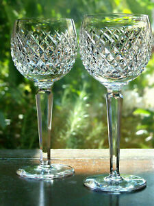 Waterford Crystal Alana Hock Wine Glass Set of 2 Vintage Mint made in Ireland