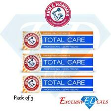 Arm & Hammer Total Care Toothpaste Professional Clean Controls Tar & Whitens x 3