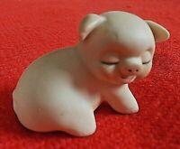 """Cute! Vintage Pig Figurine  ENESCO 1980 1 1/2"""""""