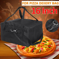 Heat Cold Insulated 16 inch Pizza Thermal Storage Food Delivery Bag Waterproof