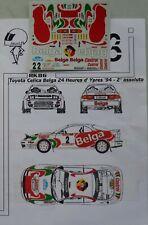 DECALS 1/43 TOYOTA CELICA BELGA RALLY YPRES 1994 RACING43