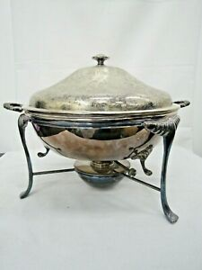 Sheffield Silver-plate On Copper Chafing Dish (4pc Set)