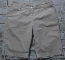Callaway Tan & White Striped Seer Sucker Golf Shorts Bermuda Women's Size 8